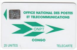 CONGO REPUBLIQUE ONPT REF MV CARDS CNR-2  SC5  25 U - Congo