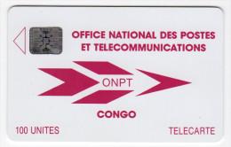 CONGO REPUBLIQUE ONPT REF MV CARDS CNR-6  SC4  100 U - Congo