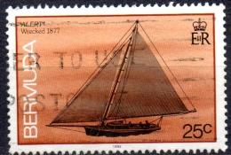 """BERMUDA 1986 Ships Wrecked On Bermuda -  25c  - """"Alert"""" (fishing Sloop), 1877  FU - Bermuda"""