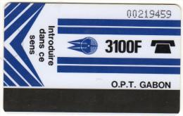 GABON REF MV CARDS GAB-03   3100 F