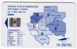 GABON REF MV CARDS GAB-24  SC7 10U - Gabon