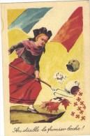 CPA Satirique Guerre 14-18 Patriotique Au Diable Le Fumier Boche  Signé Zislin - War 1914-18