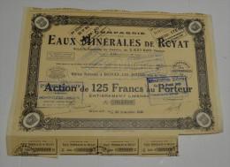Cie Des Eaux Minerales De Royat Les Bains, Puy De Dome - Eau