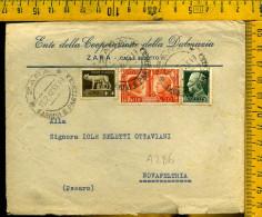 Regno Commemorativo 20 Fratellanza Italo Tedesca Su Busta Da Zara A 286 - Poststempel