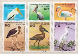 Chad CTO Set And SS - Storks & Long-legged Wading Birds