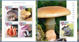 gb14802ab Guinea Bissau 2014 Mushroom 2 s/s