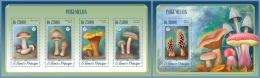 st14514ab S.Tome Principe 2014 Mushrooms 2 s/s