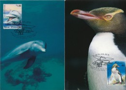 NEW ZEALAND - 1996 , Einheimische Tiere  - 6 MC ,  Maximumkarten - Unclassified