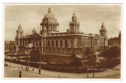 RB 1014 - Real Photo Postcard - City Hall Belfast - Ireland - Antrim / Belfast
