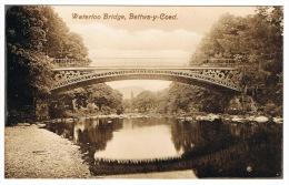 RB 1014 - Real Photo Postcard - Waterloo Bridge - Bettws-y-Coed Caernarvonshire Wales - Caernarvonshire