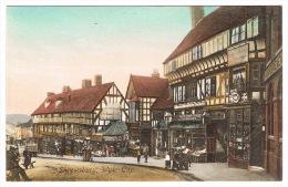 RB 1014 - Early Postcard - Wyle Cop Shrewsbury Shropshire - Good Image With Shops - Shropshire