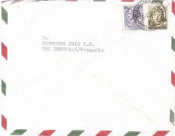 £50 MICHELANGIOLESCA + £15 SIRACUSANA X GERMANIA PARILLA MILANO - 1961-70: Storia Postale