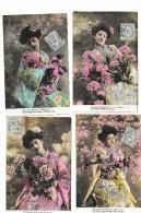 7405 - Lot De 5 CPA Femmes Japonaises - Donne
