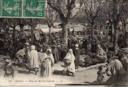 Algérie BLIDA  Place Du Marché Indigène - Blida