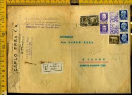 Regno Commemorativo Su Bustone Raccomandato Maonscritti A 312 - Poststempel