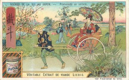 CHROMO LIEBIG - Scènes De La Vie Au Japon - Promenade En Voiture - Série Belge 780 - Année 1904 - Liebig