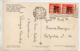 1947 Italy Italien Italia Triest Trieste Cartolina £4x2 Dem AMG-FTT Postcard Ak 2 Scans - Storia Postale