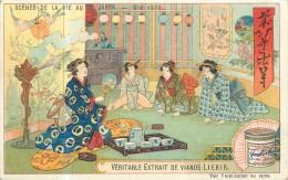 CHROMO LIEBIG - Scènes De La Vie Au Japon - Une Visite - Série Belge 780 - Année 1904 - Liebig