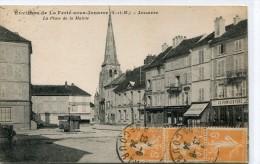 CPA 77 ENVIRONS DE LA FERTE SOUS JOUARRE - JOUARRE LA PLACE DE LA MAIRIE 1924 - La Ferte Sous Jouarre