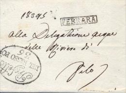 Regno D'Italia Napoleonico 1811 Sovracoperta Da Ferrara Per Filo Con Bolli PREFETTO DEL BASSO PO 36 E Cartella FERRARA - ...-1850 Voorfilatelie