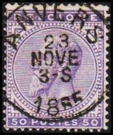 1883. Leopold II. 50 C. LUX ANVERS 23 NOV 1885.  (Michel: 38) - JF105565 - 1884-1891 Leopold II.