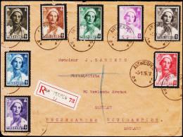 1936. ASTRID. 8 EX. ANTWERPEN 9.1.36.  (Michel: 408-414) - JF123937 - Belgien