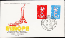 1958. EUROPA FDC 13.9.58.  (Michel: 1117-1118) - JF125126 - FDC
