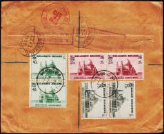 1938. KOEKELBERG 40C/35C, 75C/70C + 2Fr. 50 C/2 Fr 45 C BRUXELLES 27.11.1938. NEW YORK ... (Michel: 486-488) - JF123939 - Belgien
