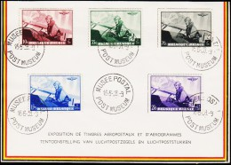 1938. AIR MAIL 5 EX. MUSEE POSTAL POSTMUSEUM 16-6-38.  (Michel: 466-470) - JF123940 - Belgien
