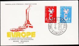 1958. EUROPA FDC 13.9.58.  (Michel: 1117-1118) - JF125127 - FDC