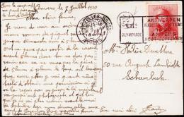 1920. ANTWERPEN 8 VII 1920. VIIe OLYMPIADE ANTWERPEN AUGUSTUS - SEPTEMBER 1920. 10 C AL... (Michel: 148) - JF123957 - Belgien