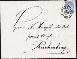 1898. 25 C. BRUXELLES 7 JUL 1898. REICHTENBERG.  (Michel: 55) - JF125124 - 1893-1900 Schmaler Bart