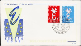 1958. EUROPA FDC 13.9.58.  (Michel: 1117-1118) - JF125131 - FDC