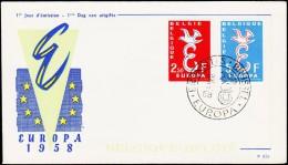 1958. EUROPA FDC 13.9.58.  (Michel: 1117-1118) - JF125130 - FDC