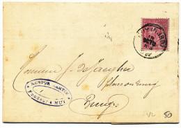 1892 BRIEF MET PZ 46 VAN HUY(NORD) NAAR BRUGES ZIE SCAN(S) - 1884-1891 Léopold II