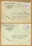 2 Enveloppes Brief Cover Elström Administration Communale De La Bouverie - Covers & Documents