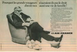 Pub.1974-75   Air France Voyages Dans Le Confort..(2 Pages).TBE - Pubblicitari