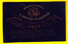 Topper MAGASIN BAS GANTS CALECON Marchand J MOTTE SCHEIRIS Ca1850 GENT PORSELEINKAART CARTE PORCELAINE Laine Coton P172 - Visiting Cards