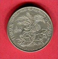 1 DINAR F A O  1976   ( KM 146)  TTB  22 - Tunisie