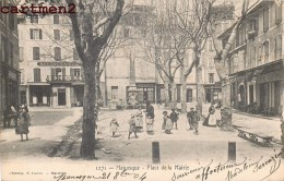MANOSQUE PLACE DE LA MAIRIE ANIMEE 1900 - Manosque