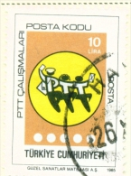 TURKEY  -  1985  Post Codes  10l  Used As Scan - 1921-... Republic