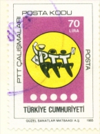 TURKEY  -  1985  Post Codes  70l  Used As Scan - 1921-... Republic