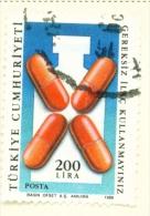 TURKEY  -  1988  Health  200l  Used As Scan - 1921-... Republic