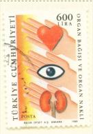 TURKEY  -  1988  Health  600l  Used As Scan - 1921-... Republic