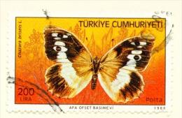 TURKEY  -  1988  Butterflies  200l  Used As Scan - 1921-... Republic