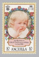 ANGUILLA - Scott #485 The 21st Anniversary Of The Birth Of Princess Diana / Mint NH Stamp - Anguilla (1968-...)