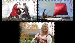 Norway 2014 Set - Tourist Stamps - Vikings - Gebruikt