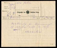 UNUSUAL TELEGRAM FROM QUEEN ALEXANDRA WIFE OF KING EDWARD VII NEUSTRELITZ - Unclassified