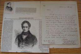 DUC DE BROGLIE, FRANCE LETTER 1816 - Other Collections