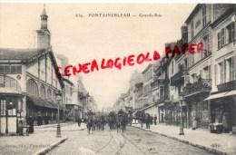 77 - FONTAINEBLEAU - GRANDE RUE  - HOTEL RESTAURANT DE LA SALAMANDRE -1917- DRAGONS - Fontainebleau